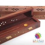 Incensario caja madera caoba