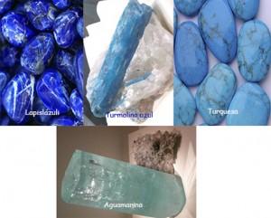 varias piedras azules