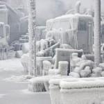 Frío de origen siberiano en ESTADOS UNIDOS