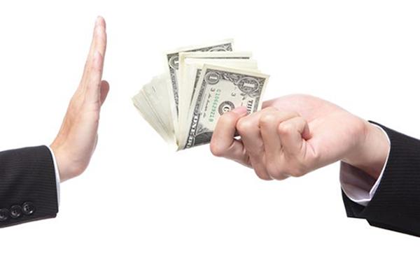 Rechazar el dinero