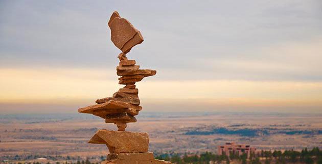 equilibrio en piedras