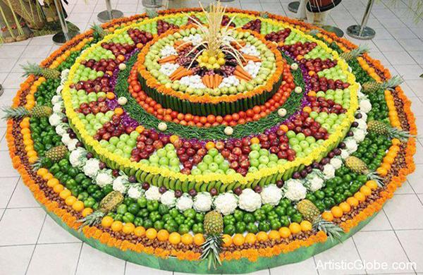 Mandala de frutas