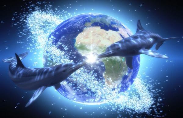 Delfines en la Tierra