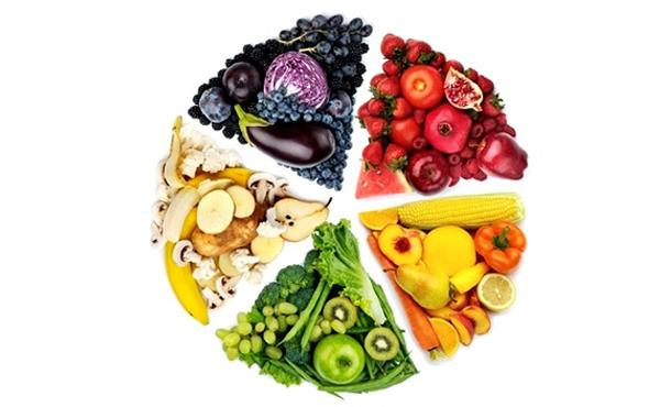 Frutas por colores