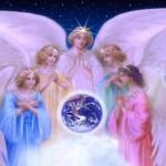 Recibiendo protección al instante de los ángeles