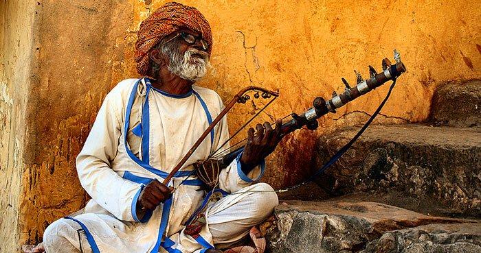Músico de Mukti Bhawan