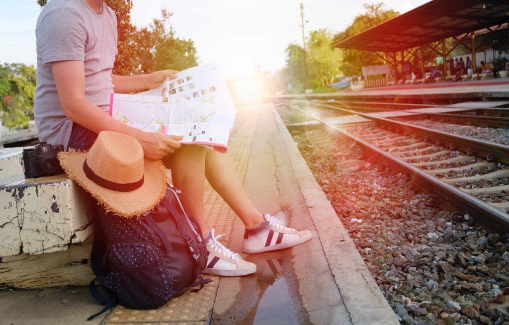 Esperando un tren