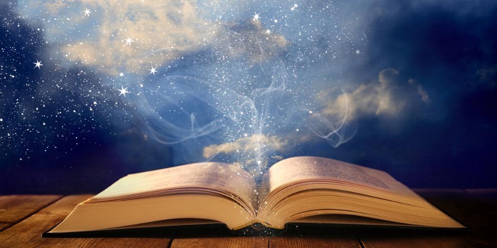 Libro mágico abierto en vida después de la muerte