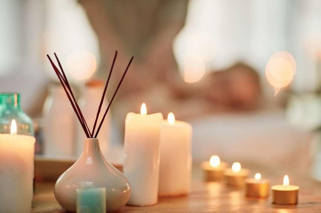 Velas e incienso para meditar